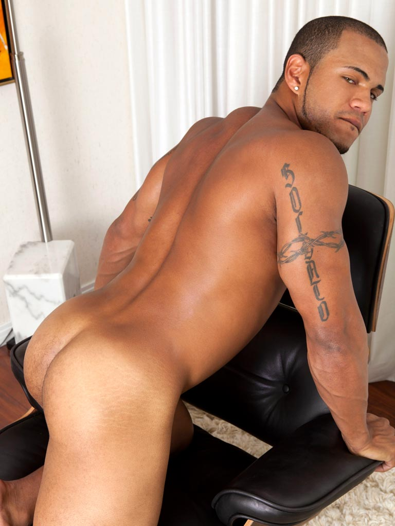 Very latino showing off his cock rather