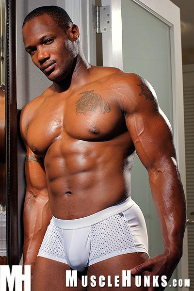 Naked black bodybuilder fucked agree, remarkable