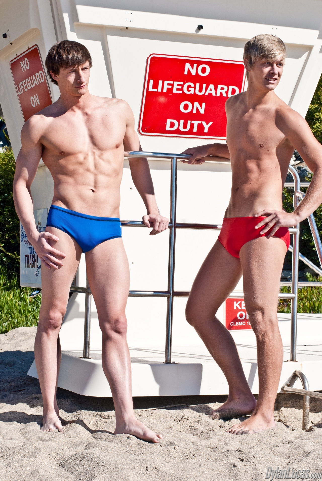 Alex Waters Porno hot lifeguards lance alexander and alex waters sucking each